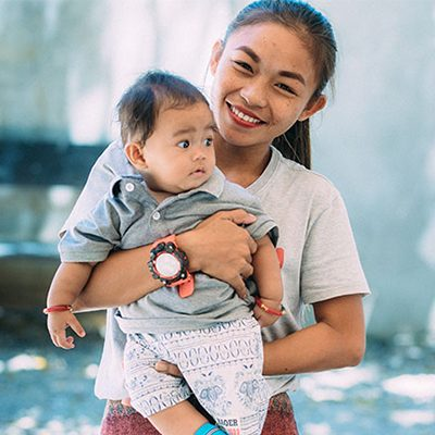 moeder en baby uit Bohol