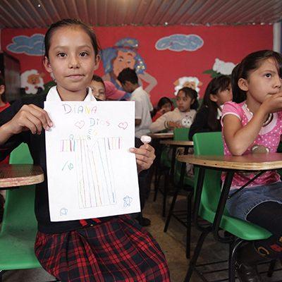 Mexicaanse kinderen in klaslokaal