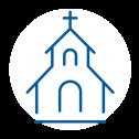 icoon van kerkgebouw