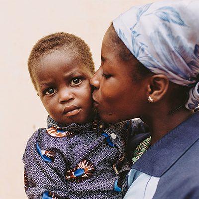 Moeder en baby uit Togo