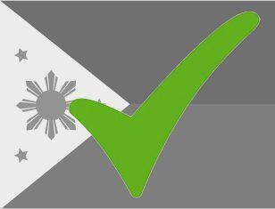 Vlag Filipijnen met vinkje